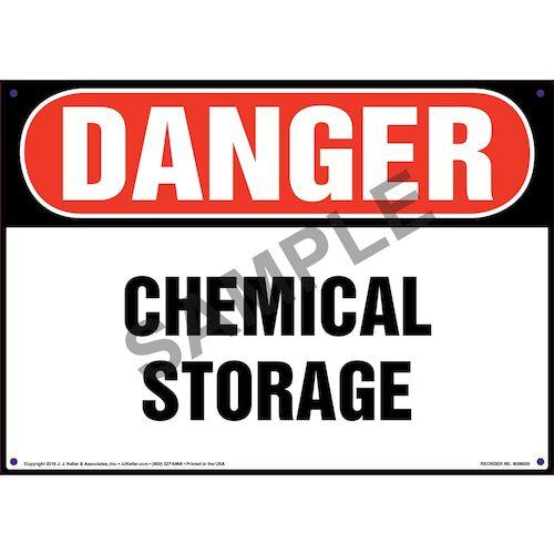 Danger: Chemical Storage Sign - OSHA (09840)