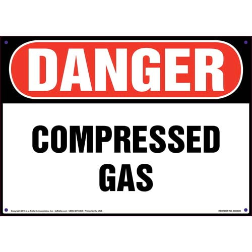 Danger: Compressed Gas Sign - OSHA (09841)