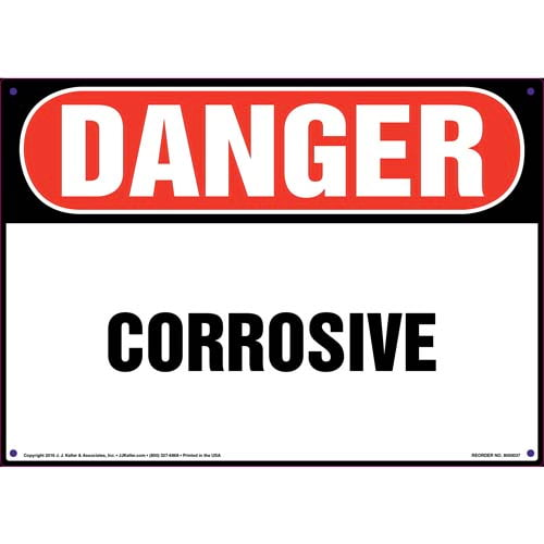 Danger: Corrosive Sign - OSHA (09842)