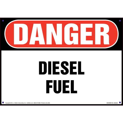 Danger: Diesel Fuel Sign - OSHA (09843)