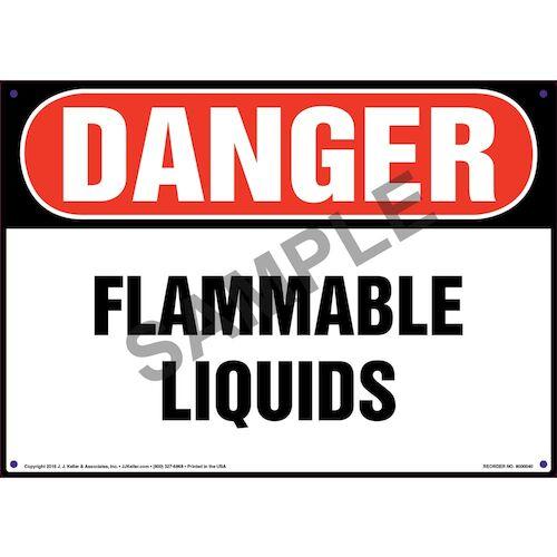 Danger: Flammable Liquids Sign - OSHA (09845)
