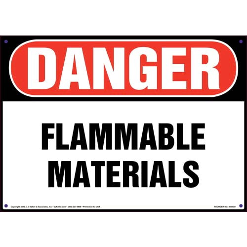 Danger: Flammable Materials Sign - OSHA (09846)