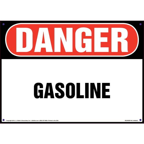 Danger: Gasoline Sign - OSHA (09847)