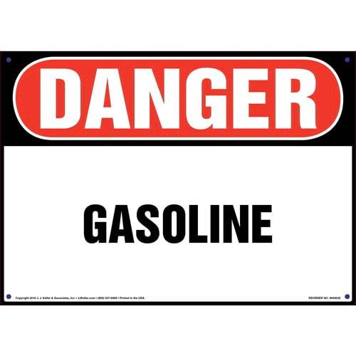 Danger: Gasoline Sign - OSHA (09847)