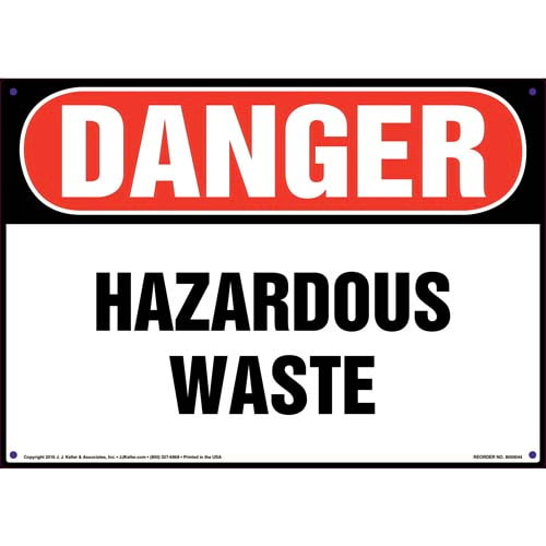 Danger: Hazardous Waste Sign - OSHA (09849)
