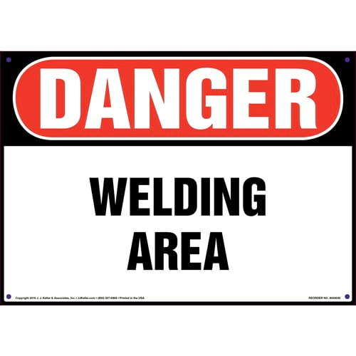 Danger: Welding Area Sign - OSHA (09854)