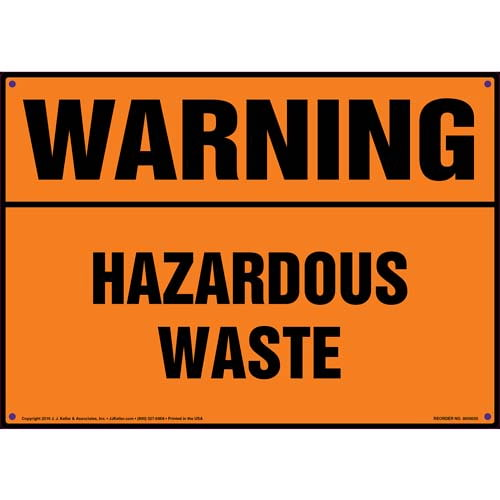 Warning: Hazardous Waste Sign - OSHA (09855)