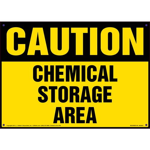 Caution: Chemical Storage Area Sign - OSHA (09856)
