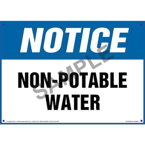 Notice: Non-Potable Water Sign - OSHA (09860)