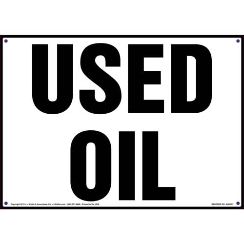 Used Oil Sign (09862)