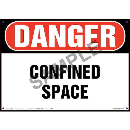 Danger: Confined Space - OSHA Sign (09863)