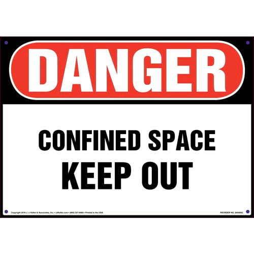Danger: Confined Space, Keep Out Sign - OSHA (09867)