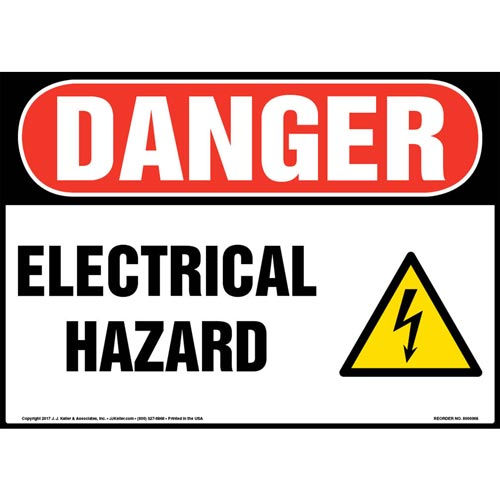 Danger: Electrical Hazard - OSHA Sign (09873)