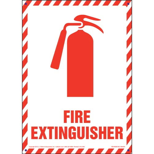 Fire Extinguisher Sign with Icon - Portrait (09886)