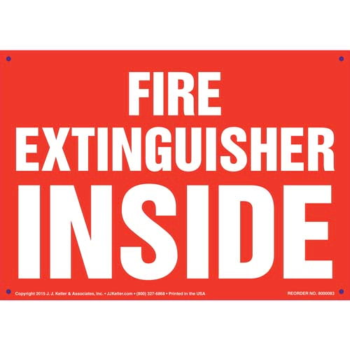 Fire Extinguisher Inside Sign (09888)
