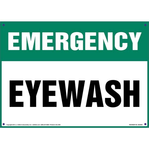 Emergency: Eye Wash Sign (09889)