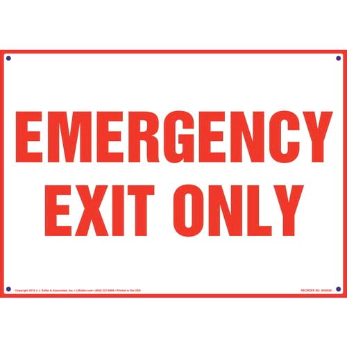 Emergency Exit Only Sign (09890)