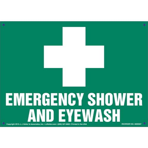 Emergency Shower And Eye Wash Sign (09892)
