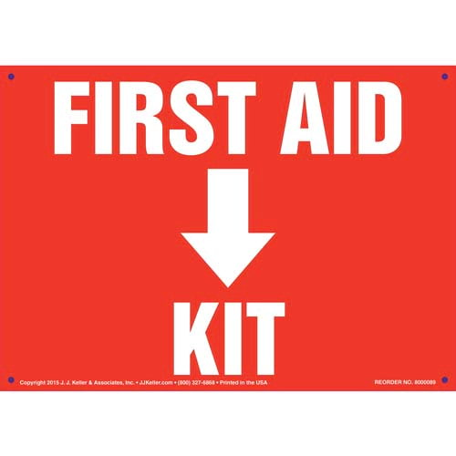 First Aid Kit Sign (09894)