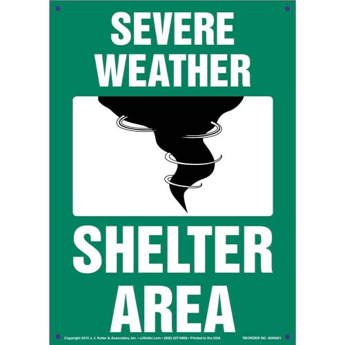 Severe Weather Shelter Area Sign (09896)