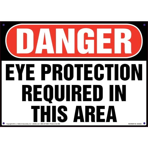 Danger: Eye Protection Required In This Area - OSHA Sign (09897)