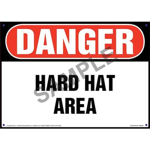 Danger: Hard Hat Area - OSHA Sign (09900)