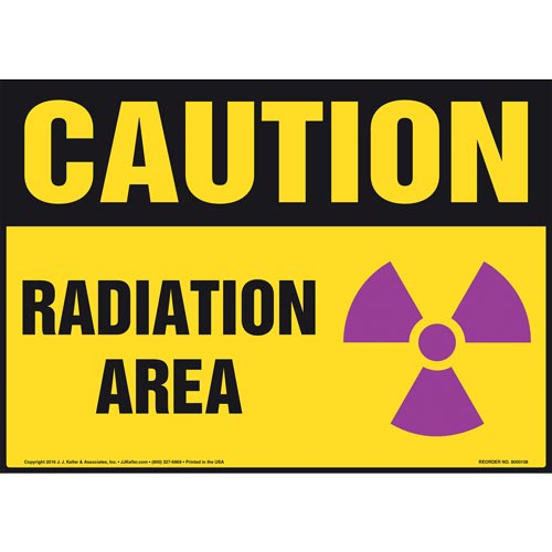 Caution: Radiation Area With Graphic - OSHA Sign (09913)