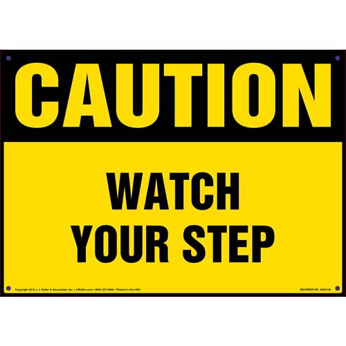 Caution: Watch Your Step - OSHA Sign (09935)