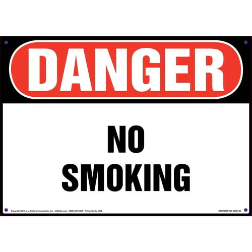Danger: No Smoking Sign - OSHA (09938)