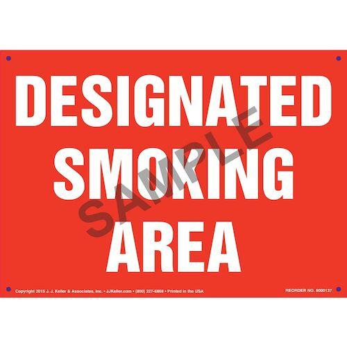 Designated Smoking Area Sign (09942)