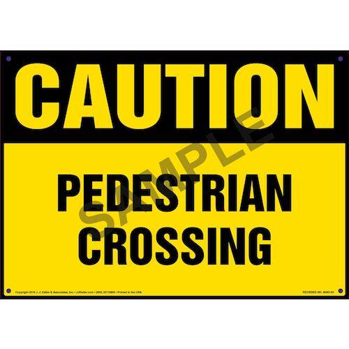 Caution: Pedestrian Crossing Sign - OSHA (09948)