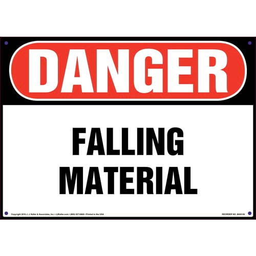 Danger: Falling Material Sign - OSHA (09954)