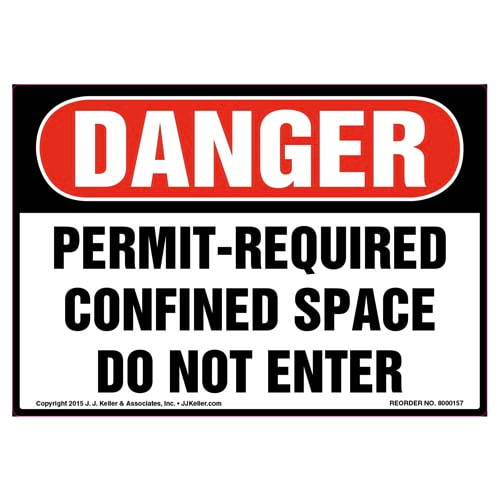 Danger: Permit-Required Confined Space Do Not Enter - OSHA Sign (09962)