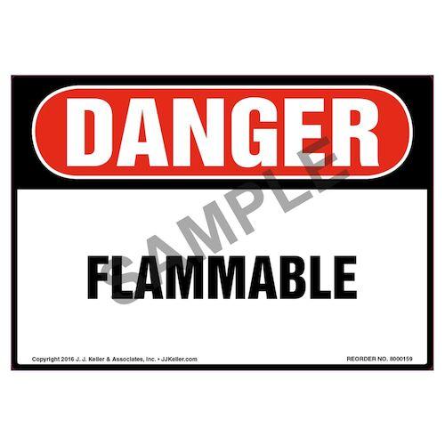 Danger: Flammable Label - OSHA (09964)