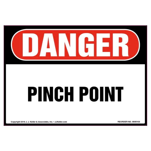 Danger: Pinch Point Label - OSHA (09969)