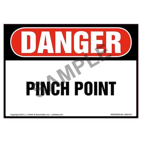 Danger: Pinch Point Label - OSHA (09969)