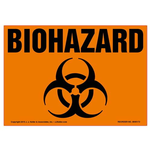 Biohazard Label with Icon (09978)