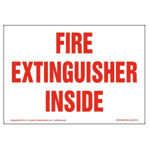 Fire Extinguisher Inside Label (09979)