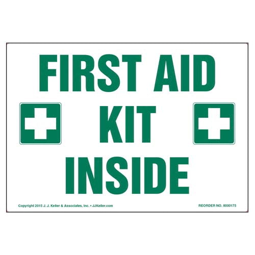 First Aid Kit Inside Label (09980)