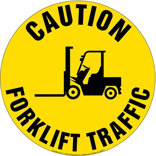 Caution: Forklift Traffic Sign (09982)