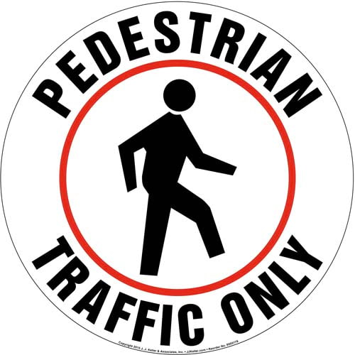Pedestrian Traffic Only Sign (09983)