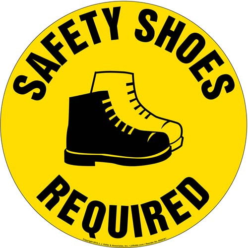 Safety Shoes Required Sign (09986)