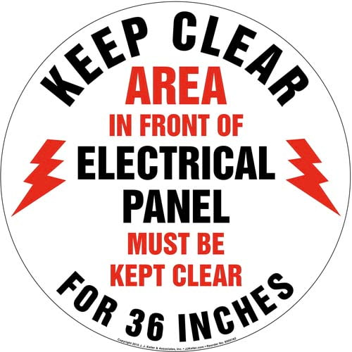 Keep Clear Area In Front Of Electrical Panel Sign (09987)