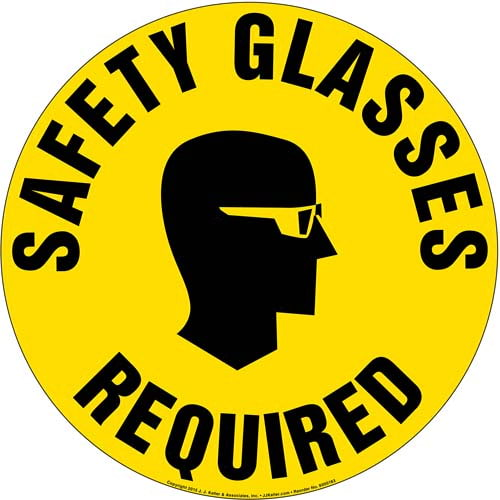 Safety Glasses Required Sign (09988)