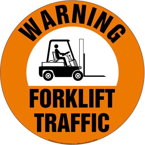 Warning: Forklift Traffic Sign (09990)