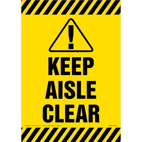 Keep Aisle Clear Sign (09994)