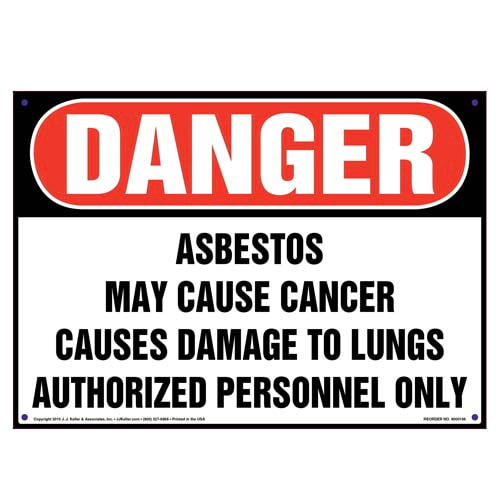 Danger: Asbestos, Authorized Personnel Only Sign - OSHA (010001)