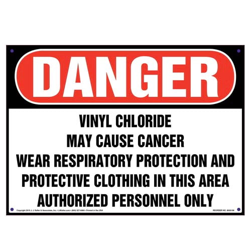 Danger: Vinyl Chloride, Wear Respiratory Protection Sign - OSHA (010003)