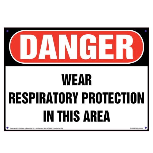 Danger: Wear Respiratory Protection In This Area Sign - OSHA (010009)