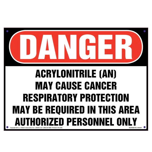 Danger: Acrylonitrile (AN), Authorized Personnel Only Sign - OSHA (010012)